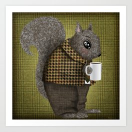 An Early Morning For Mister Squirrel Art Print