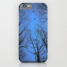 A Certain Darkness Is Needed (Night Trees Silhouette) iPhone Case
