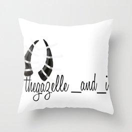 thegazelle_and_i Throw Pillow