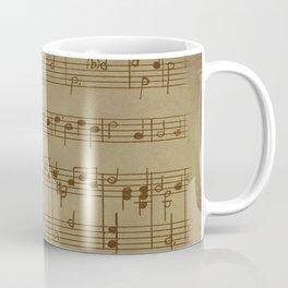 Vintage Music Sheet (Monochrome) Coffee Mug