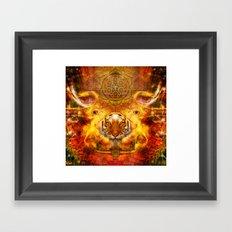 AdyaAnanda - Tiger.Tantra Framed Art Print