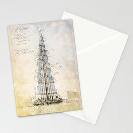 Burj Khalifa, Dubai Stationery Cards