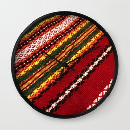 Authentic Bulgarian tablecloth Wall Clock