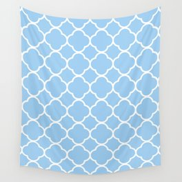 Periwinkle Quatrefoil Wall Tapestry