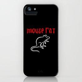 mouse rat iPhone Case