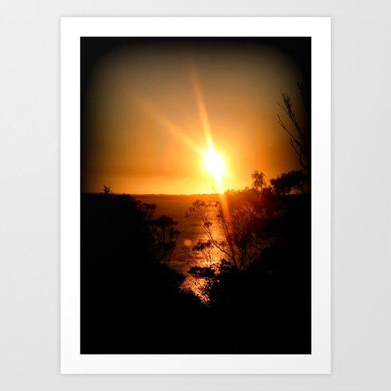 Sunset over the Limestone Coast - Australia Art Print