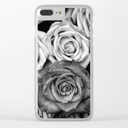 The Roses (Black and White) Clear iPhone Case