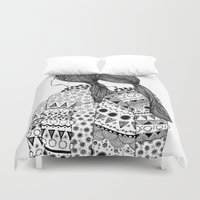 twins Duvet Covers featuring Twins by La Thai