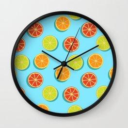 Summer insta fruits Wall Clock