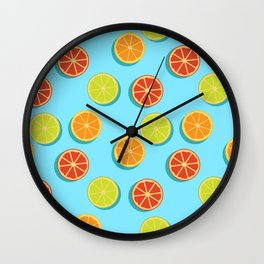 Summer insta fruits Wall Clock