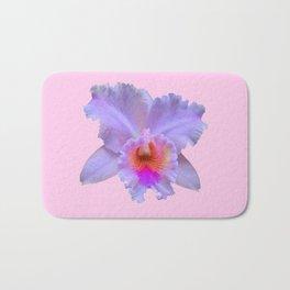 PINK ART TROPICAL CATTLEYA ORCHID FLOWER Bath Mat