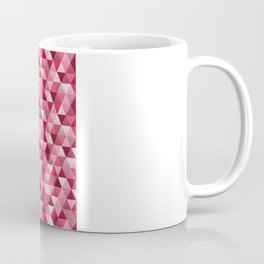 Geometric in Candy Apple Red Coffee Mug