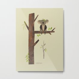 Sitting Up A Tree Is Where Koala's Meant To Be Metal Print