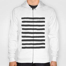 Black paint stripes Hoody