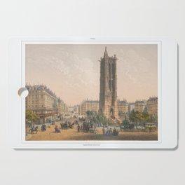 Paris art print Paris Decor office decoration vintage decor TOUR SAINT JACQUES of Paris Cutting Board