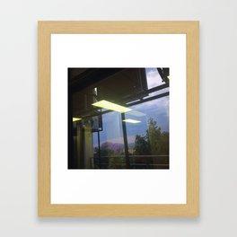 #160photo #177 #Thunder and #Rain today /  #BeautifulSolitude / #Jacarandas #LightReflection Framed Art Print
