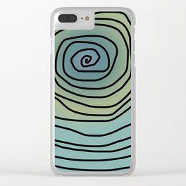 Spiralling Clear iPhone Case