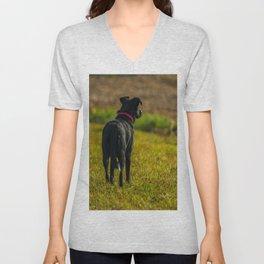 Watching dog Unisex V-Neck