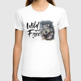Wolf Wild and Free T-shirt