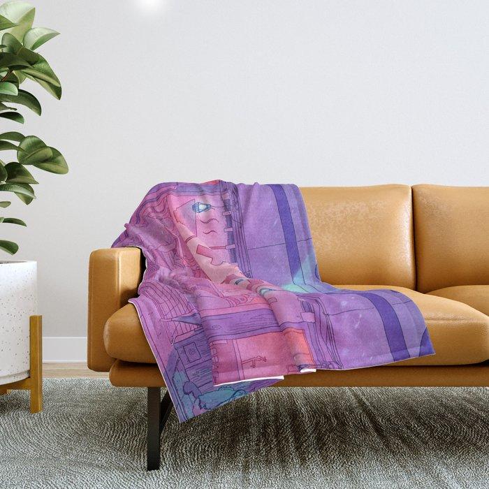 Ramen Shop Throw Blanket