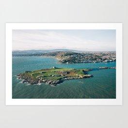 Aerial view of Dalkey Island Art Print