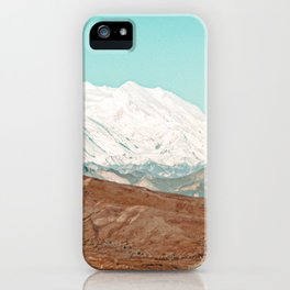White Cap // Grainy Photograph Backpacking Before the Winter above Tree Line iPhone Case
