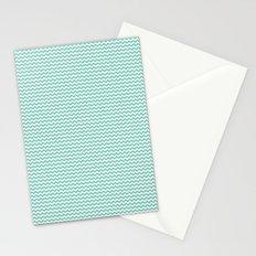 Chevron Mint Stationery Cards