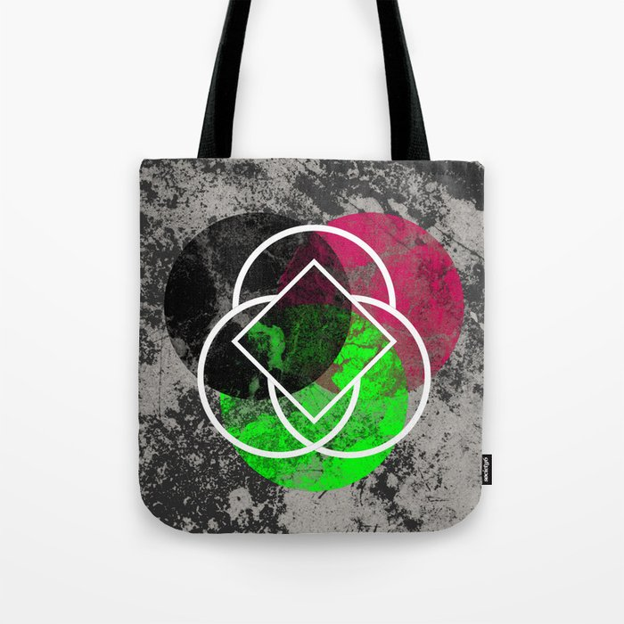 Textured Trio - Abstract, Geometric, Textured Artwork Tote Bag