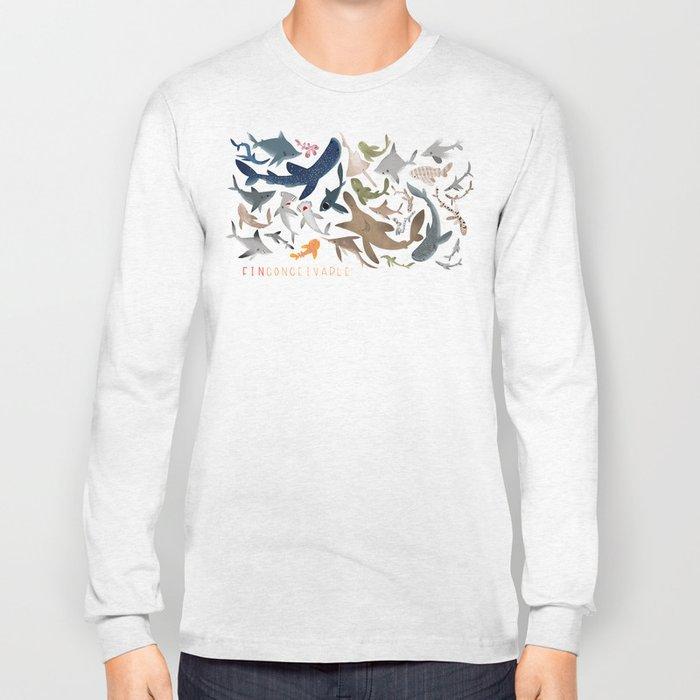 "FINconceivable Still ""Sharks"" Long Sleeve T-shirt"