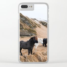 Icelandic Horses Clear iPhone Case