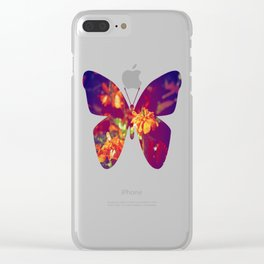 Sun Kissed Maroon Clear iPhone Case