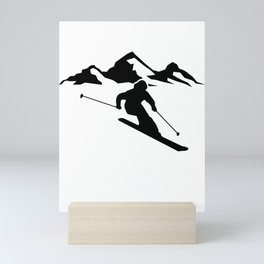 Skiing wintersport Mini Art Print