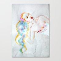 iggy azalea Canvas Prints featuring My World / Iggy Azalea by eleidiel