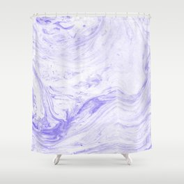 Lilac marble Shower Curtain