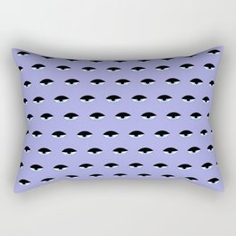 Sleepy Eyes (purple) Rectangular Pillow