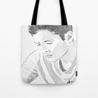 winchester Tote Bags featuring Dean Winchester by Nasher67671