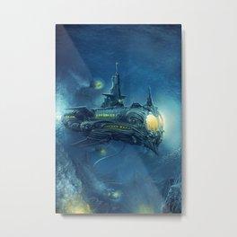 Steampunk Submarine Metal Print