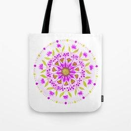 Floral Grove Mandala Tote Bag