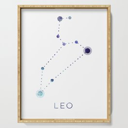 LEO STAR CONSTELLATION ZODIAC SIGN Serving Tray