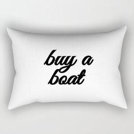 Bad Advice - Buy a Boat Rectangular Pillow