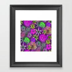 Hot Fuschia PINK and Lime  Flower Power Framed Art Print