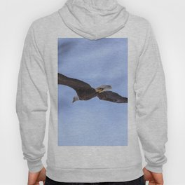 Bald Eagle flying near some trees Hoody