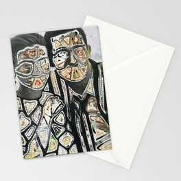 Space Couple Travel Love Stationery Cards