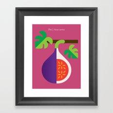 Fruit: Fig Framed Art Print