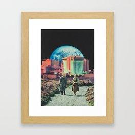 'Late night getaway' Framed Art Print
