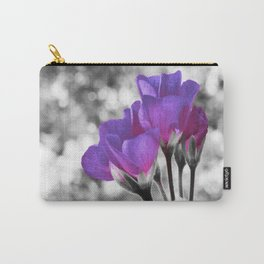 Fuchsia Violet Flowers Pop Of Color Carry-All Pouch