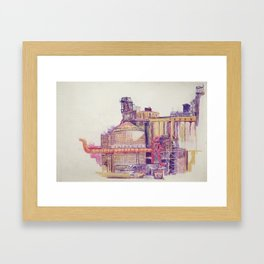 it smelled like bread at first Framed Art Print