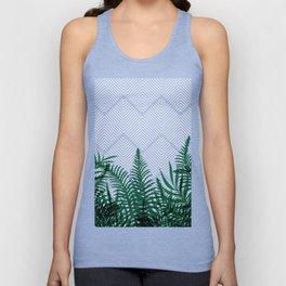 Tropical Ferns on Pink #society6 #decor #buyart Unisex Tank Top