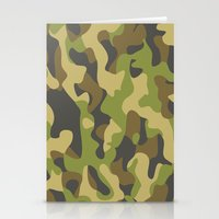 military Stationery Cards featuring Military Pattern by Crazy Thoom