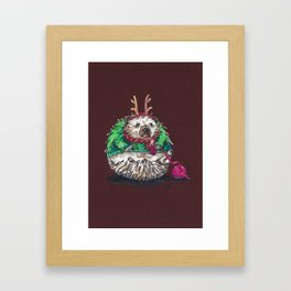 Holiday Sweater Crochet Critter Framed Art Print